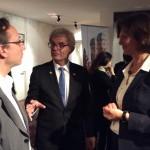 Alaric Hamacher mit Botschafter Rolf Mafael und Ministerin Ilse Aigner.