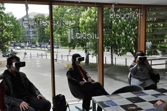 Bei der Pressevorführung im Virtual Reality Pop Up Kino